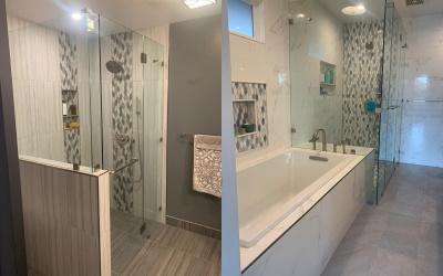 bath and walk-in shower