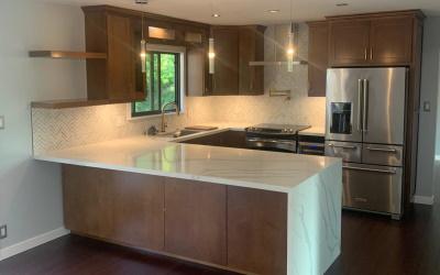 Modern stylish kitchen interior